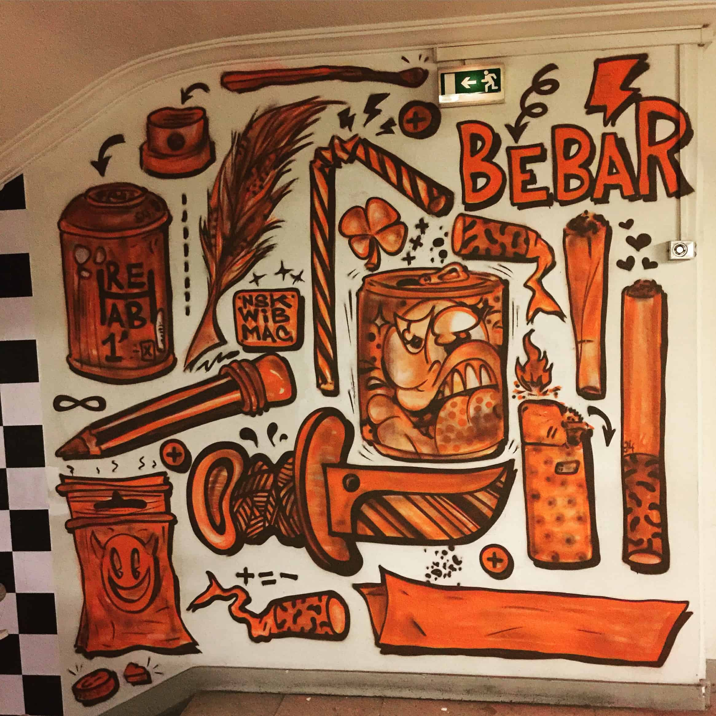 BEBAR GRAFFITI PARIS STREET ART