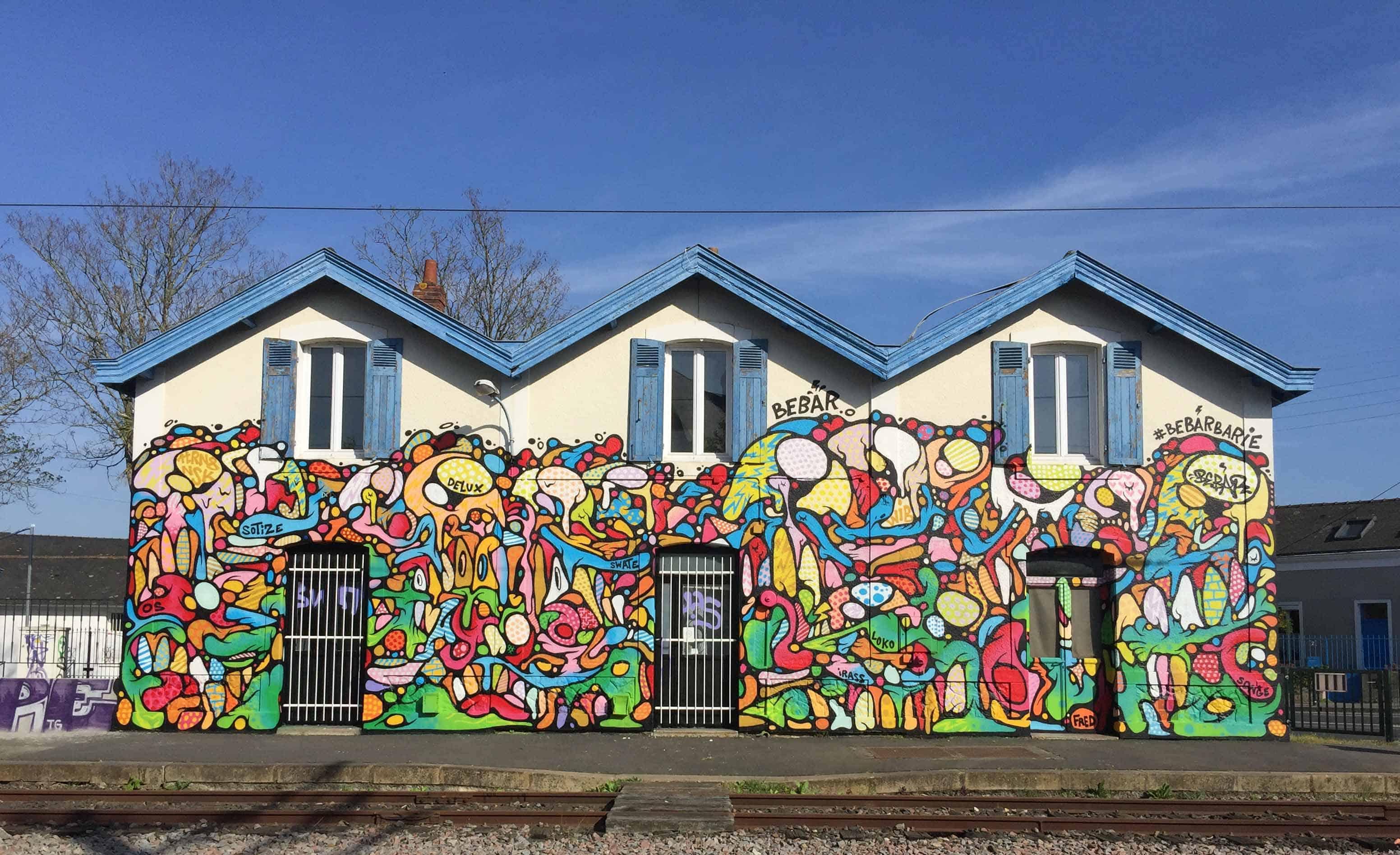 bebar nantes doulon graffiti