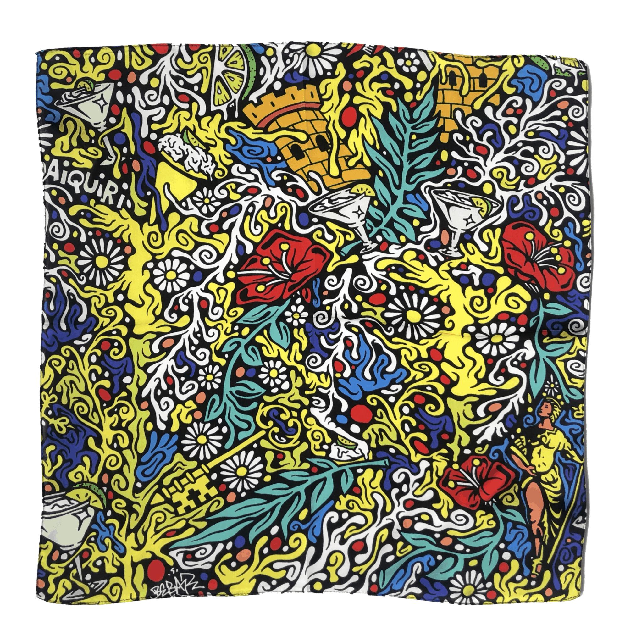 silk scarf-cuba made me